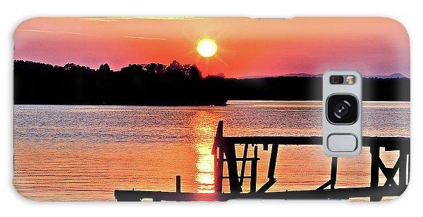 Surreal Smith Mountain Lake Dock Sunset Galaxy Case