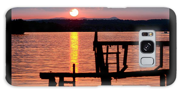Surreal Smith Mountain Lake Dockside Sunset 2 Galaxy Case by The American Shutterbug Society