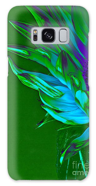 Surreal Sunflower  Galaxy Case by Karen Lewis