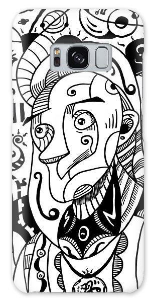 Surrealism Philosopher Black And White Galaxy Case