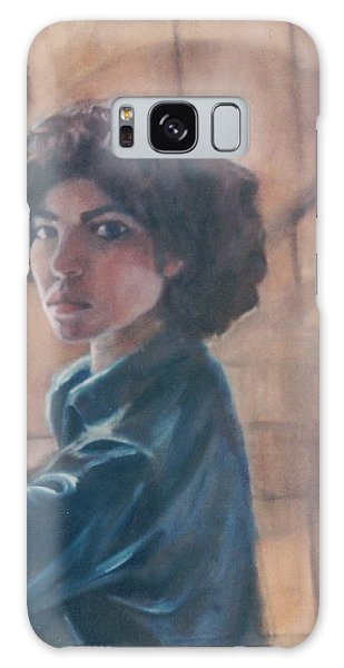 Susan Berger - Suzn Smith - Self Portrait Galaxy Case