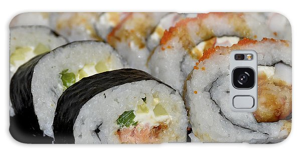 Galaxy Case featuring the photograph Sushi Rolls From Home by Carolyn Marshall