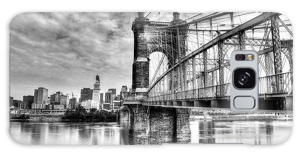 Suspension Bridge At Cincinnati Bw Galaxy Case