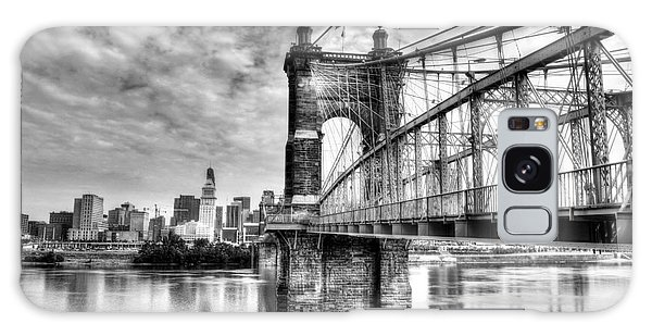 Suspension Bridge At Cincinnati Bw Galaxy Case