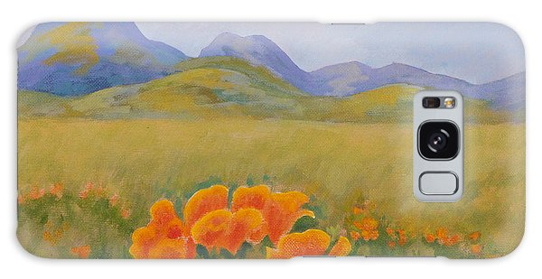 Sutter Buttes With California Poppies Galaxy Case