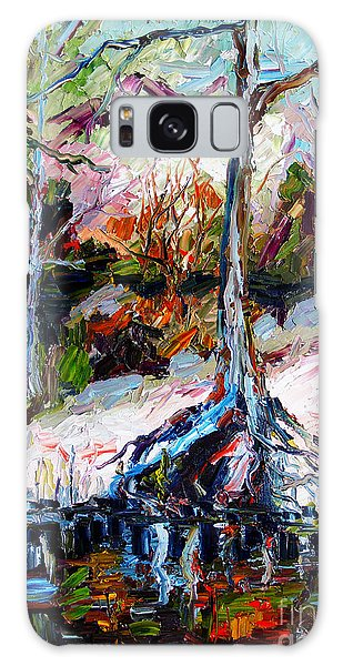 Suwanee River Black Waters Modern Art Galaxy Case