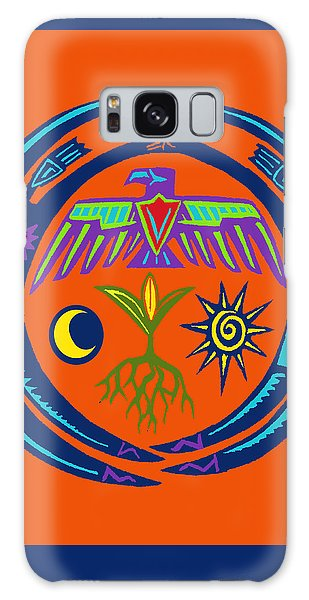 Galaxy Case featuring the digital art Sw Shaman Eagle Rain Dance by Vagabond Folk Art - Virginia Vivier