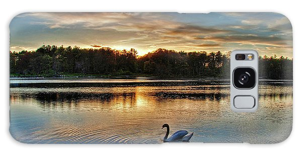 Swan At Sunset Galaxy Case