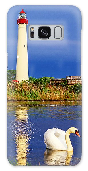 Swan At The Lighthouse Galaxy Case