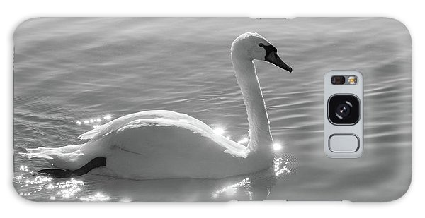 Swan Bathed In Light Galaxy Case