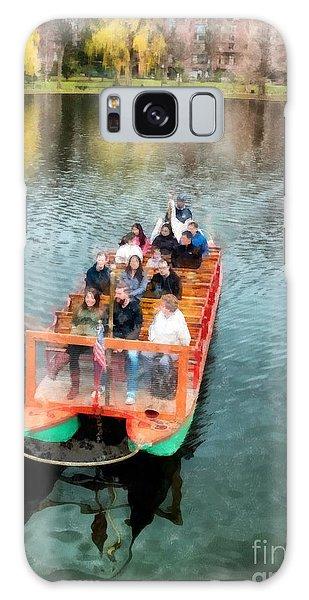 Swan Boats Galaxy Case - Swan Boats Boston Public Gardens by Edward Fielding
