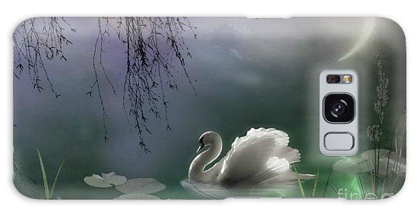 Swan By Moonlight Galaxy Case