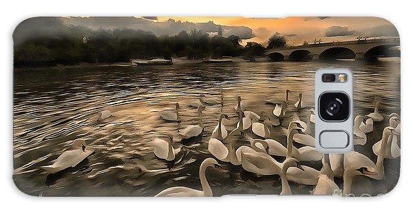 Swan Gloaming Kingston U K Galaxy Case by Jack Torcello