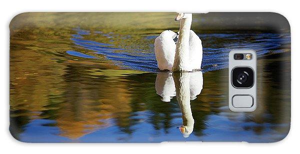 Swan In Color Galaxy Case by Teemu Tretjakov
