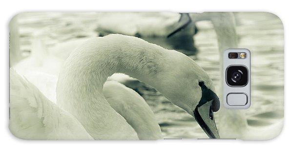 Swan In Water Galaxy Case