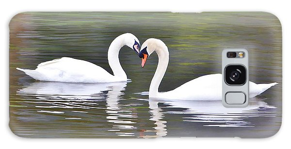 Swan Love Galaxy Case by Diane Alexander