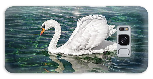 Swan On Lake Geneva Switzerland  Galaxy Case