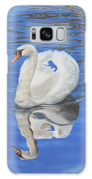Galaxy Case featuring the painting Swan Reflection by Elizabeth Lock