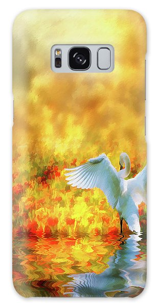 Swan Song At Sunset Thanks For The Good Day Lord Galaxy Case by Diane Schuster