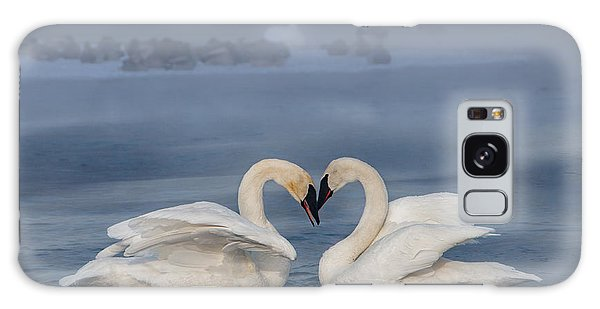 Swan Valentine - Blue Galaxy Case by Patti Deters
