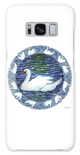 Swan With Knotted Border Galaxy Case