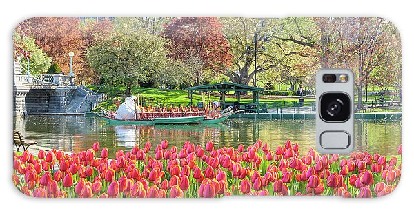 Swans And Tulips 2 Galaxy Case by Susan Cole Kelly