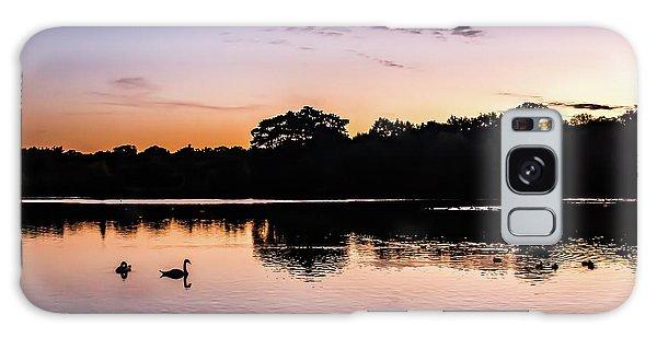 Swans At Sunrise Galaxy Case