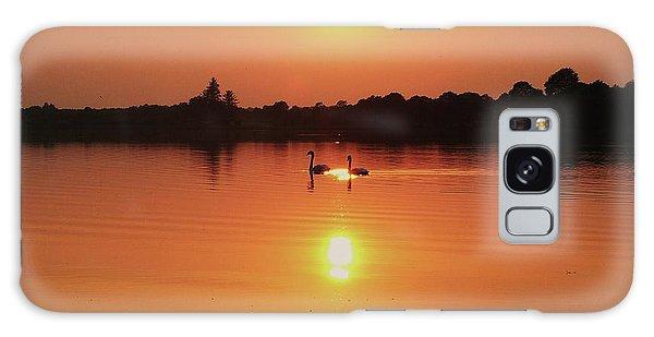 Swans At Sunset  Galaxy Case by Martina Fagan