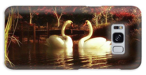 Swans In A Pond Galaxy Case