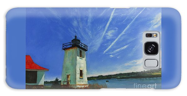 Swans Island Lighthouse Galaxy Case