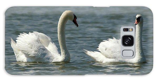 Swans On Lake  Galaxy Case