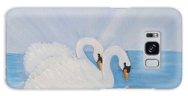 Swans On Open Water Galaxy Case