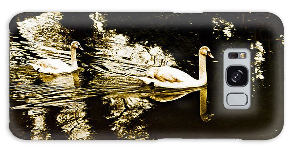 Swans On River Wey Galaxy Case