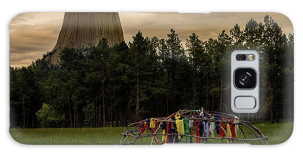Galaxy Case featuring the photograph Sweat Lodge At Devil's Tower by Gary Lengyel