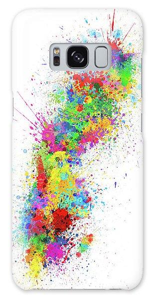 Sweden Galaxy Case - Sweden Paint Splashes Map by Michael Tompsett