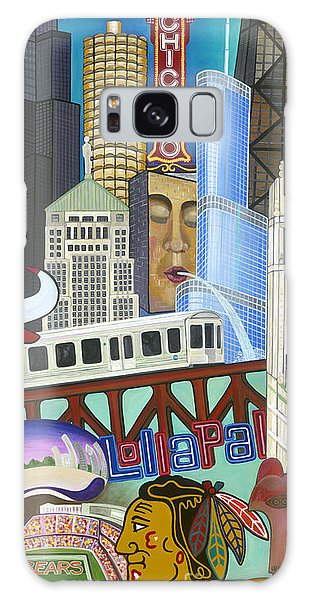 Galaxy Case featuring the painting Sweet Home Chicago by Carla Bank