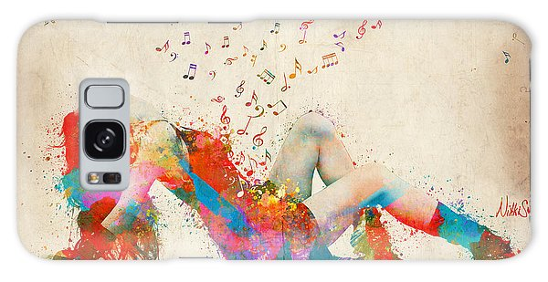 Sweet Jenny Bursting With Music Galaxy Case by Nikki Smith