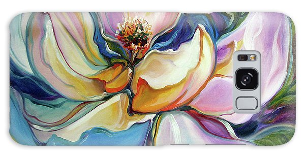 Sweet Magnoli Floral Abstract Galaxy Case