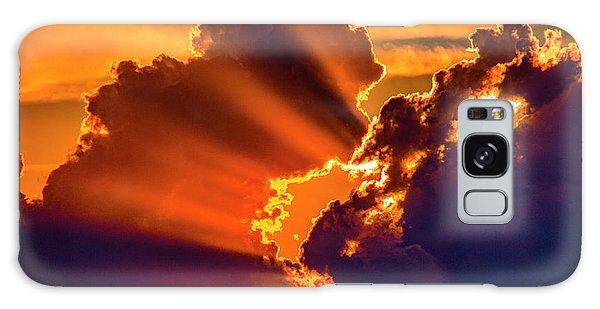 Sweet Nebraska Crepuscular Rays 010 Galaxy Case