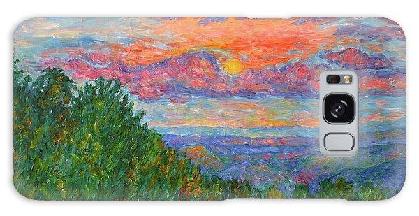 Sweet Pea Morning On The Blue Ridge Galaxy Case