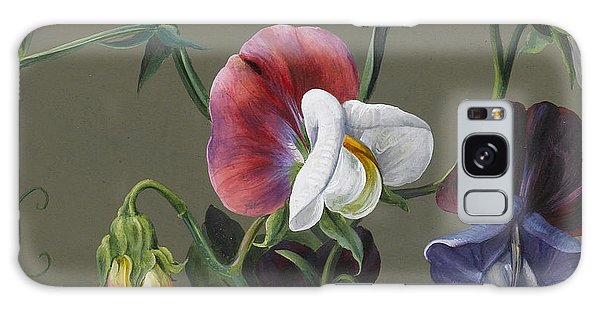 Decorative Galaxy Case - Sweet Peas And Violas by Louise D'Orleans