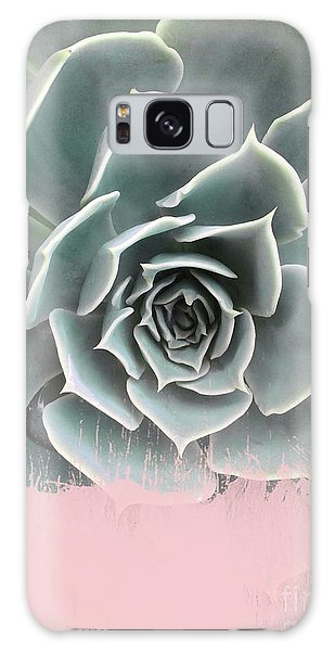 Sweet Pink Paint On Succulent Galaxy Case