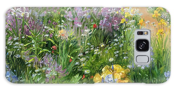 Sweet Rocket - Foxgloves And Irises Galaxy Case