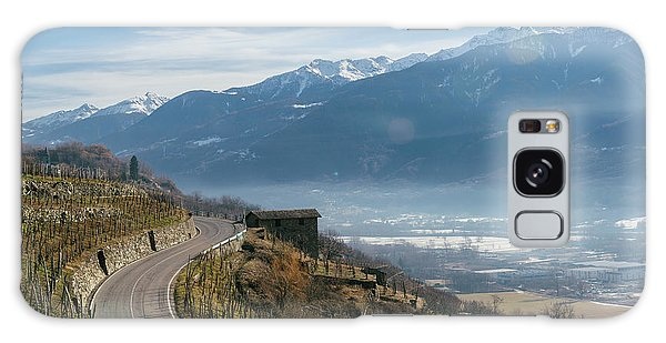 Swerving Road In Valtellina, Italy Galaxy Case