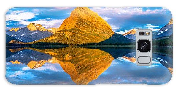 Swiftcurrent Lake Sunrise Panorama Galaxy Case