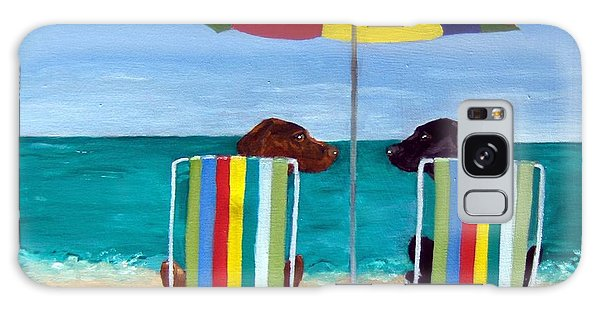 Chocolate Lab Galaxy Case - Swim by Roger Wedegis