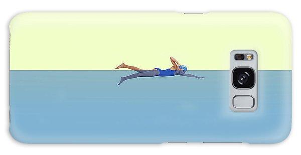 Minimal Galaxy Case - Swimming Girl by Caterina Theoharidou