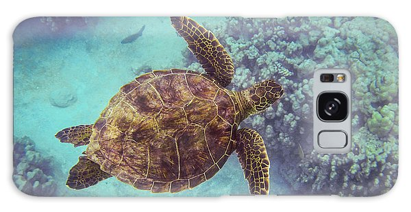 Swimming Honu From Above Galaxy Case