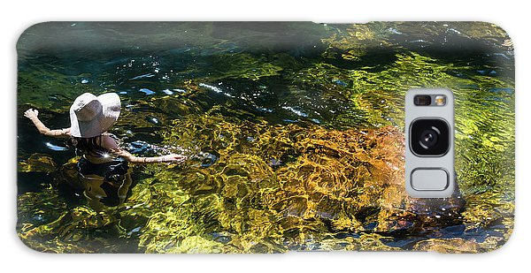 swimming in the Buley Rockhole waterfalls Galaxy Case