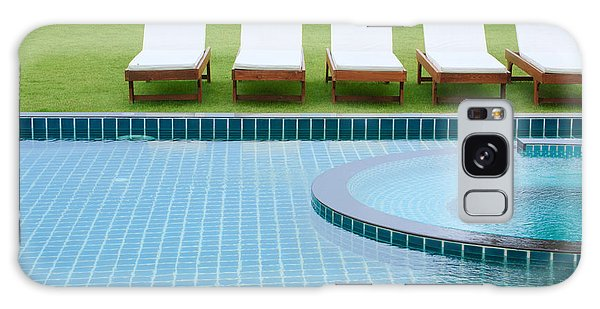 Swimming Pool And Chairs Galaxy Case